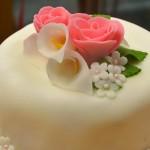 Permanent Link: Rosa tvåvåningstårta till bröllop