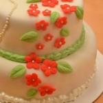 Permanent Link: Småblommig bröllopstårta