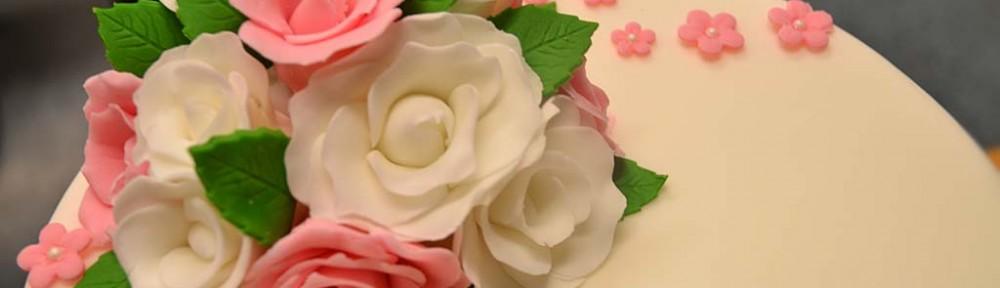Bröllopstårta i två våningar