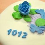 Permanent Link: Tårta med blommor och fjärilar