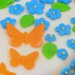 Permanent Link: Tårta med snäckor och fjärilar