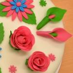 Permanent Link: Färgstark blommig tårta