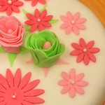 Permanent Link: Rosa, blommig tårta