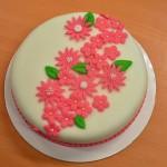 Permanent Link: Rosablommig tårta