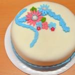 Permanent Link: Blå och rosa festlig tårta