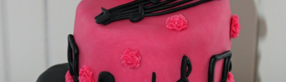 Topsy Turvy Music Cake