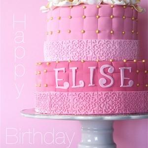 Rosa våningstårta till Elise