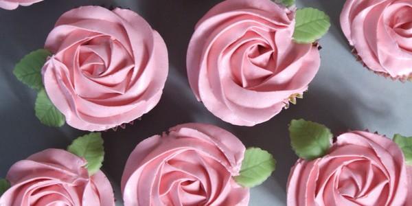 Rosiga cupcakes