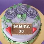 Permanent Link: Lila 30-års tårta