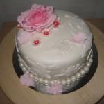 Permanent Link: Vacker tårta i vitt och rosa