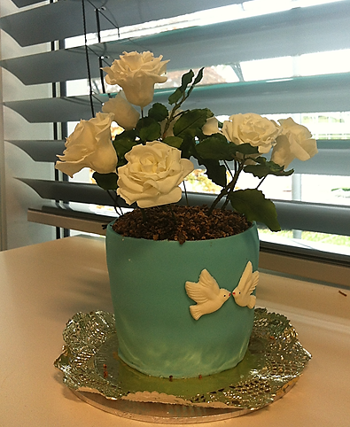 Flowerpot-cake