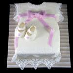 Permanent Link: Klänning-tårta för dop.