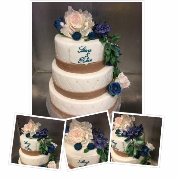Bröllopstårta sommar