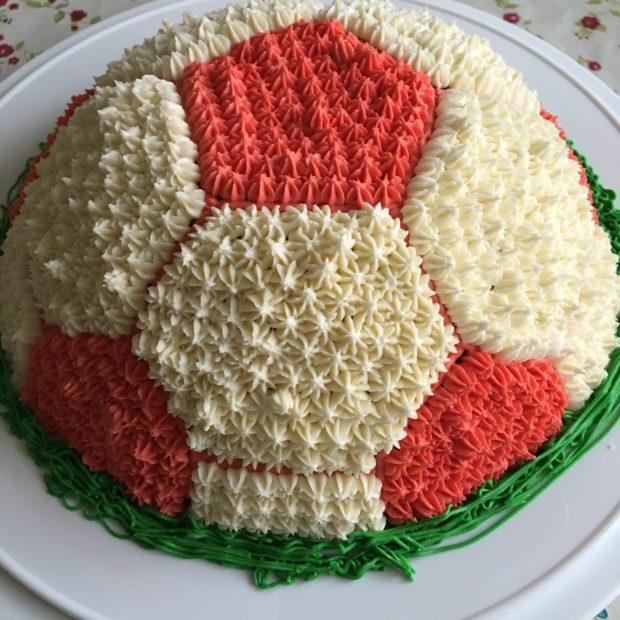 Fotboll tårta