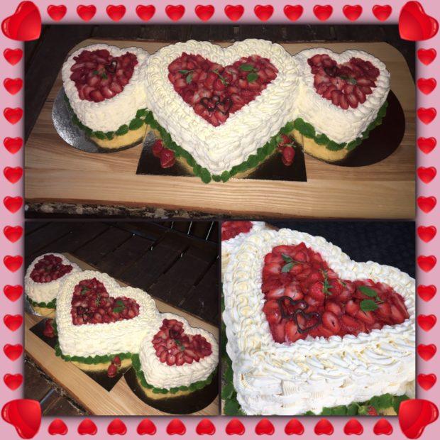 Hjärtlig bröllopstårta
