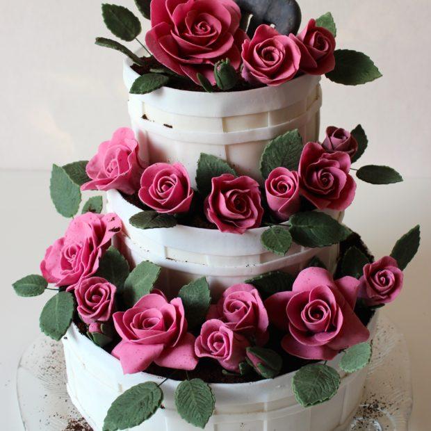 Blommande tårta