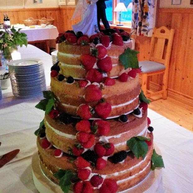 Naken bröllopstårta från Dalarna
