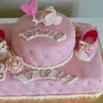 Permanent Link: Nyanser av rosa- Doptårta