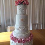 Permanent Link: Bröllopstårta med pioner