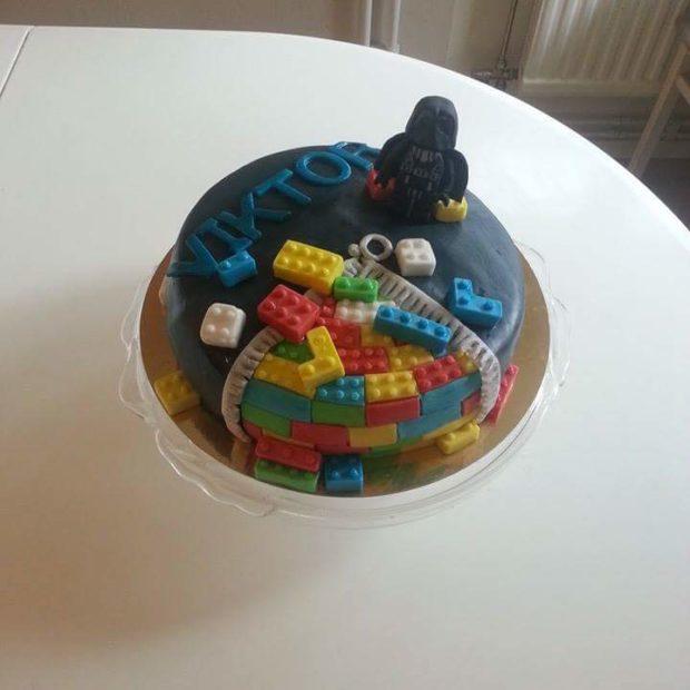 lego starwars tårta