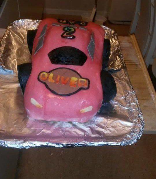 Bil tårta