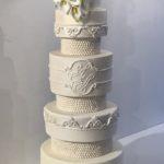 Permanent Link: Bröllopstårta med socker blommor
