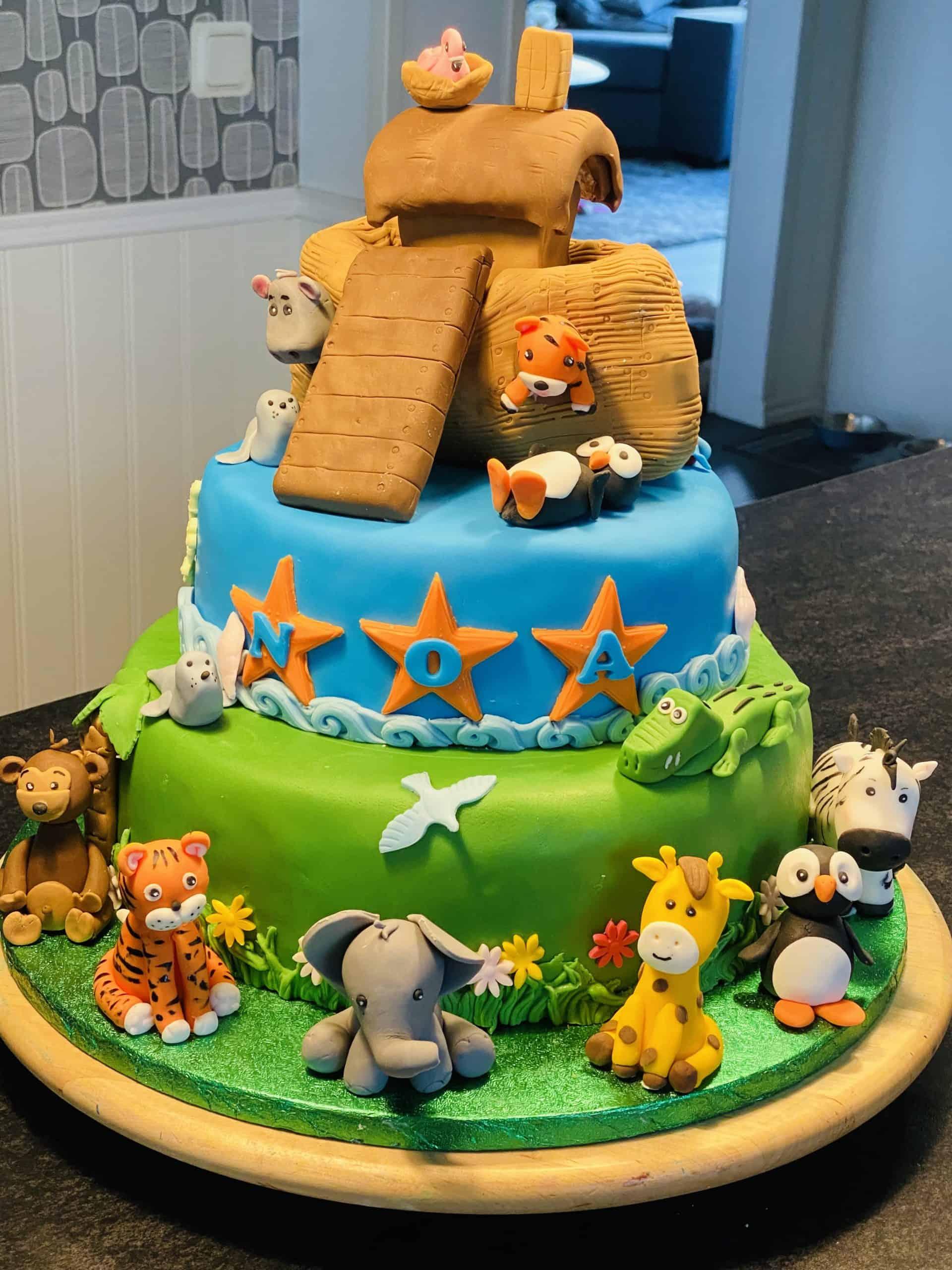 Noaks ark dop och 1års tårta